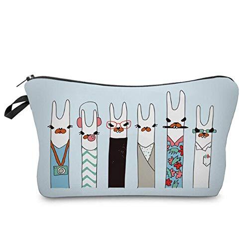 Makeup Bag Fashion Multifunction Pattern Cosmetic Organizer Bag Printing Bag Women Travel Storage Bags-Alpaca_22 * 18 * 13.5cm