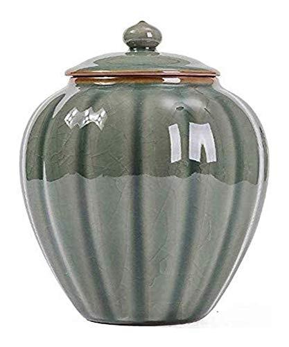YZJL Cenizas Humana For Adultos Y Mascotas Cremación Urnas Conmemoración Entierro En Casa Las Urnas Cerámica Medio Cremación Urna la cremación urnas (Size : Style B)
