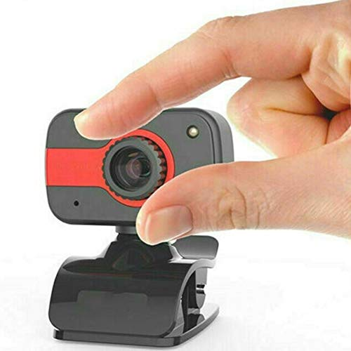 CttiuliSxt Webcam, 480P USB Webcam With Microphone, Used For Laptop Or Desktop Computer Camera, Used For Webcam To Drive High-definition Microphone. (Color : Black red)