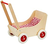 Holz Wenzel 552.1809 - Puppenwagen Laura mit Garnitur