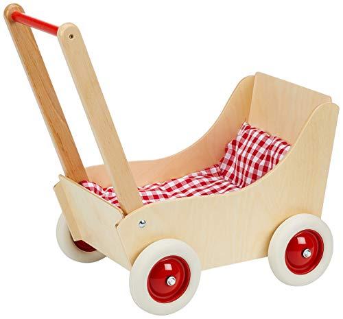 Holz Wenzel 350010 - Puppenwagen Laura mit Garnitur