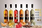 Set de Licor de Frutas Dolce Cilento Licor de Meloncello, Limoncello, Licor de Sandía Watermeloncello, Crema de Meloncello, Avellana y Pistacho (6x 700ml)