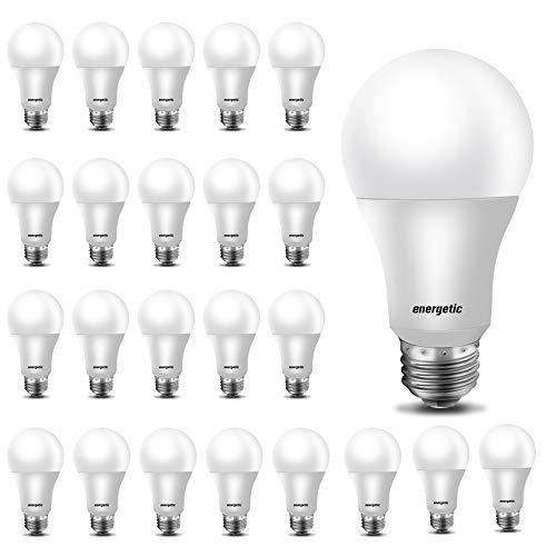 24 Pack A19 LED Light Bulb, 40 Watt Equivalent Daylight 5000K, E26 Standard Base, UL Listed, Non-Dimmable LED Light Bulb