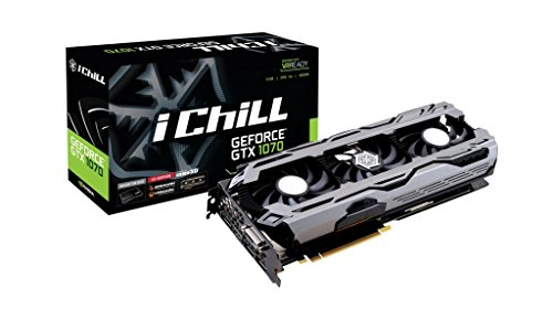 Inno3D C107V3-1SDN-P5DNX GeForce GTX 1070 PCIe 3.0 Grafikkarte, 8GB GDDR5-RAM, DVI, 2X HDMI 2.0b, 2X Display Port 1.4 schwarz/grau