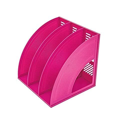 UNU_YAN Modern Simplicity Desktop File Storage Organizer Sturdy Desktop Revista Revista de plástico Titulares de plástico Marcos Diviltadores de archivos Document Gabinete Rack Pantalla y almacenamien