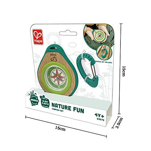 Hape E5575 Camper-Set, Kompass und Karabiner für Kinder, 2teilig, Nature Fun
