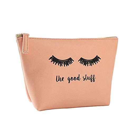 jingyuu 1 sac de rangement en polyuréthane rose - Pour le rangement des produits cosmétiques, petits objets - 20 x 14 cm