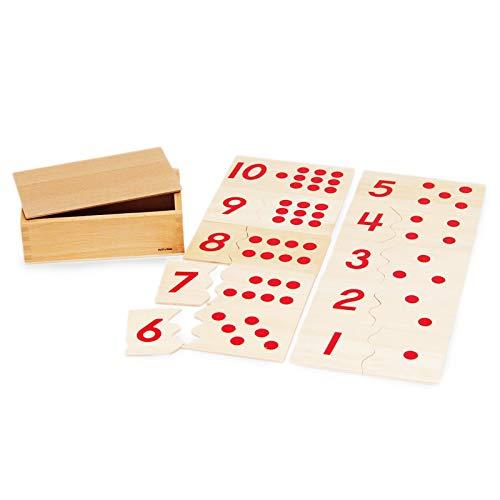 【MONTE Kids】モンテッソーリ教具 -- 数合わせパズル -- Montessori 知育玩具教具 幼児早期教育 モンテキッズ おもちゃ 本格教材 算数 モンテッソーリ教具 -- 数合わせパズル --
