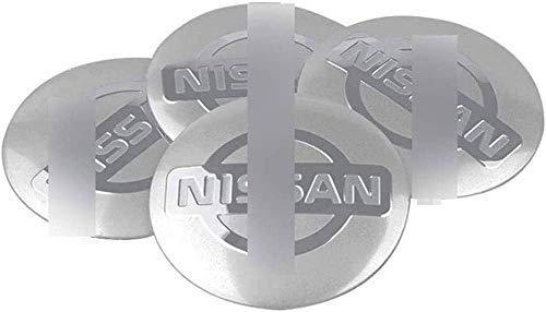 4 piezas Cubiertas de Cubo de Rueda para Nissan Qashqa Tiida Teana Skyline Juke X-Trail, Prueba De Polvo Tapas centrales para llantas con el Logotipo De Insignia Automóvil Accesorios,56mm