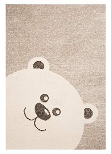 Zala Living Kinderteppich Spielteppich Teddy Bear Toby Creme Beige, 120x170 cm