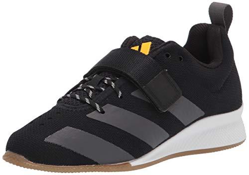 adidas Men's Adipower Weightlifting ll Cross Trainer, Black/Grey/Solar Gold, 12