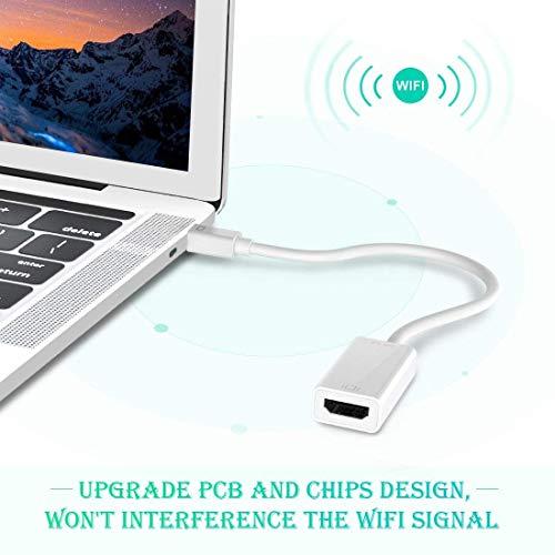 Rts 4K Mini DisplayPort to HDMI Adapter (Thunderbolt&Thunderbolt 2) HDMI Converter Compatible with MacBook Air, iMac, Mac Pro, Surface Pro/Pro 4, Surface Laptop, Surface Book, ThinkPad P71