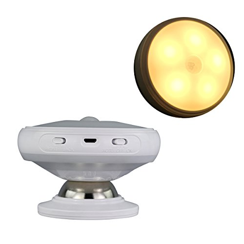 Recargables Cuerpo giratorias de 360grados luz Inducción Noche Lámpara magnético adsorción Dormitorio además lámpara