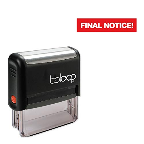 Final Notice! w/Knockout Style Font and Design Self-Inking Rubber Stamp