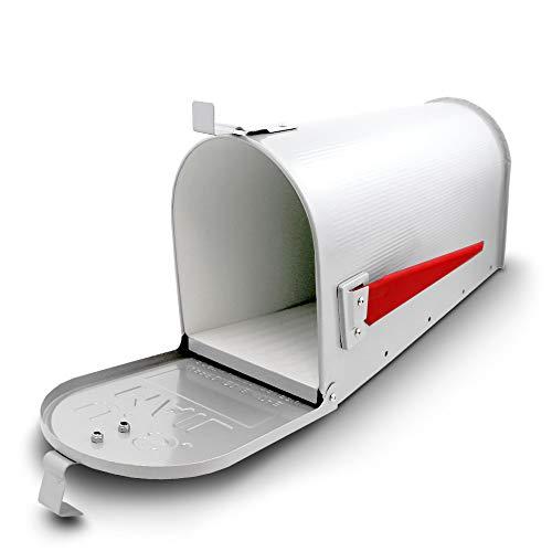 US Mailbox Amerikanischer Briefkasten Standbriefkasten Wandbriefkasten Letterbox Weiß Inclusive Wandhalter - 5