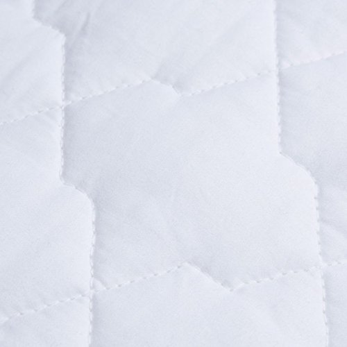SOAK AND SLEEP Luxury 100% Cotton Quilted Mattress Protector - Double Size