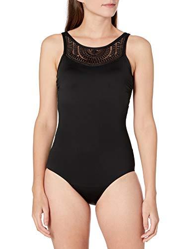 Amoena Damen Argentina Einteiliger Badeanzug, schwarz, 42 DE/C