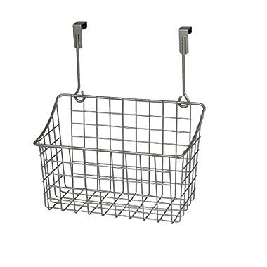 Spectrum Diversified Grid Storage Basket, Over the Cabinet, Medium, Satin Nickel