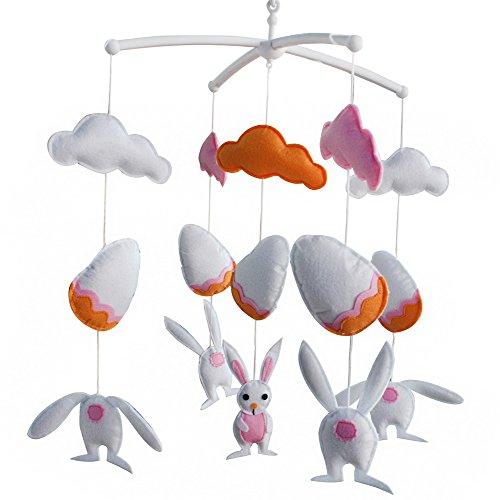 Décoration de pépinière de cadeau de jouet mobile de lit de bébé fait main pour 0-2 ans, MQ30