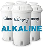 WAMERY Certified Alkaline Water Filter Replacement 3-Pack, Enhanced 2020 Model, Fits Brita and...