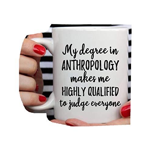 Taza de antropología, regalo antropólogo, antropólogo, antropólogo, graduación, antropología, antropología graciosa