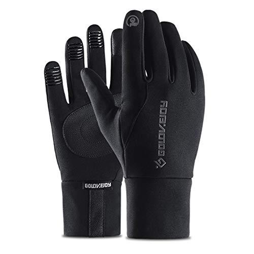 Sugelary Handschuhe Fahrräder, Wasserdicht, Winddicht, Warm und Touchscreen kompatibel den Outdoor-Sport Herren und Damen (M)