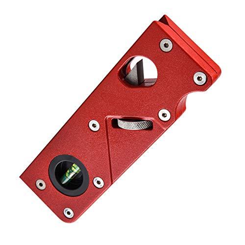 Pialla a mano per la lavorazione del legno, pialla smussata a 45 gradi, pialla per angoli per la lavorazione del legno, pialla manuale in metallo per smussare e rifilare utensile (rosso)