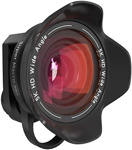 Aimmune Phone Camera Lens 5K HD 2 in 1 120 Wide Angle Lens 20X Macro Lens Clip On Phone Lens product image