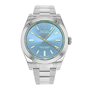 Fashion Shopping Rolex Milgauss 40 Blue Dial Stainless Steel Men's Watch