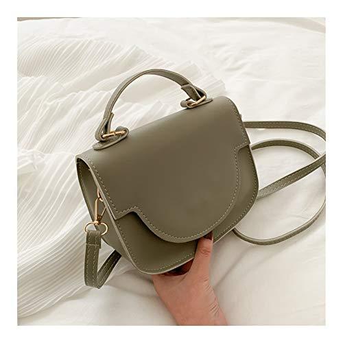 Logo The Korean Style All-Match Messenger Bag Western Style Fashion Texture one-Shoulder Handbag (Color : Green)