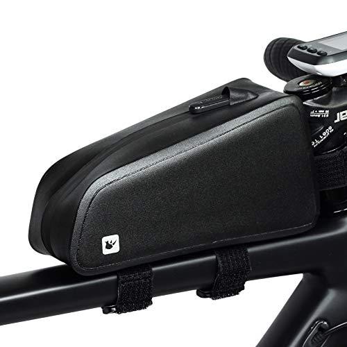 Fiets-bovenbuisframetas, waterdichte voorzakken, grote capaciteit voor fietsstuur, tas met ritssluiting, mountainbike- en racefietsaccessoires voor sport in de open lucht.