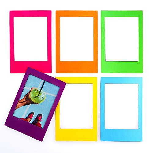 Mustard Marcos magnéticos Rainbow por – Marcos de fotos magnéticos – Lindos marcos Instax – 6 marcos magnéticos en colores arco iris