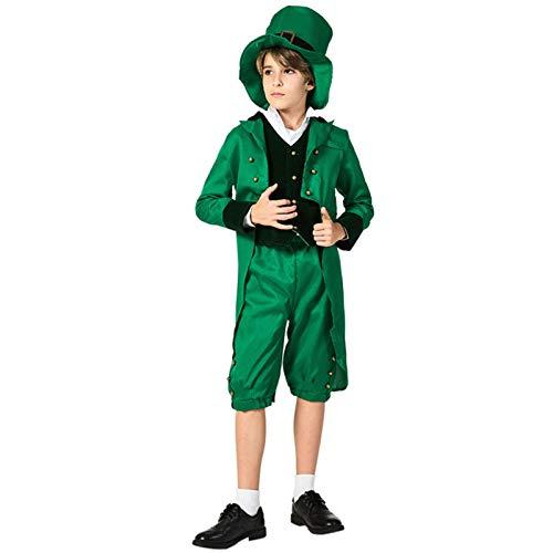 YHX Elfo Verde irlandés para niños, Carnaval del Festival folclórico étnico del día de San Patricio, Disfraces de Juegos de Fiesta