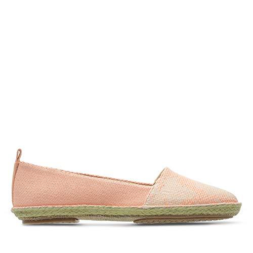 Clarks Clovelly Sun Halb-Schuhe leichte Damen Espadrilles Slipper Freizeit-Schuhe Koralle, Größe:38
