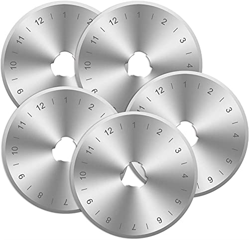 Woodyallen 10 Paquete Titanio Recubierto Rotary Cutter Blades 45mm Reemplazo Cuchillas Acolchar (Color : Silver)