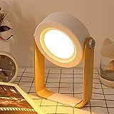 Osairous Lampada da Tavolo LED a Lanterna, Lampada da Comodino Rotante a 360 °, Luce Notturna LED Bambini Dimmerabile, USB Ricaricabile, Portatile, Camera da Letto, Campeggio