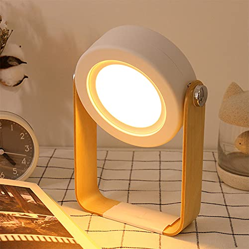 Osairous Lámpara de Mesa LED, Lámpara de Noche LED para Los Niños, Luz de Nocturna Plegable, 3 Modos Regulable, USB Recargable, Portátil, Dormitorio, Camping