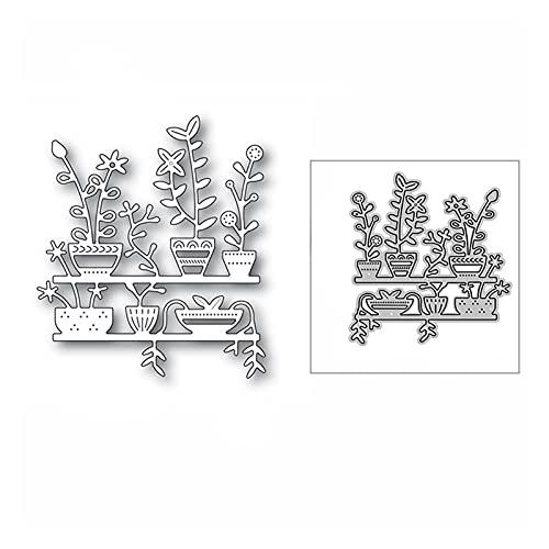 Sygjal Geschichten Topfpflanzen Metallschneideformen für DIY Scrapbooking Dekorative und Kartenherstellung Schneiden stirbt