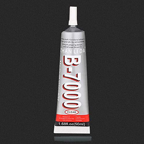 Yuio B-7000 Mehrzweck-Industriekleber für Schmuck, Handwerk, Strass und Nagelgel, DIY, Handy-Rahmen, Reparatur, Glas, Kleber (zufällige Farbauswahl)