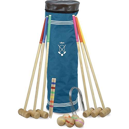 VILAC V-4093S - Juego de croquet grande para 6 jugadores con bolsa
