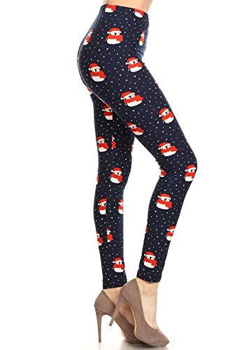 S673-PLUS Christmas Penguins Print Fashion Leggings