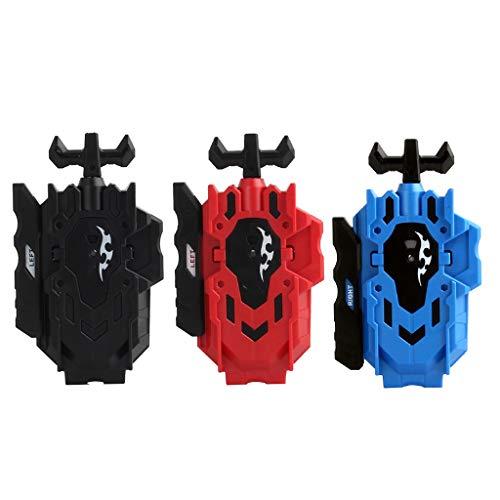 perfeclan 3 Unids Lanzador de Cadena de Doble Dirección para Juguete de Peonza Girocompás Gyro Burst