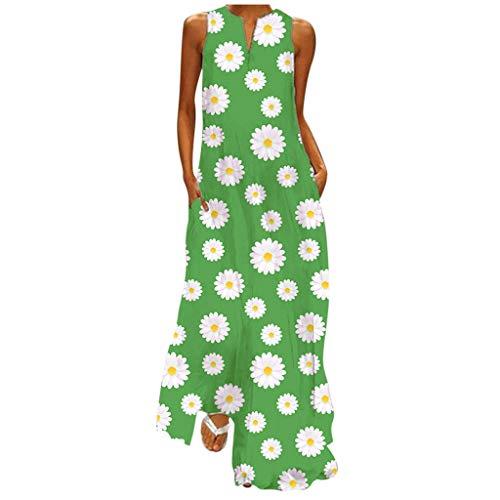 Hffan Sommerkleid Kleider Damen Sommer lang Ballkleid Damen Dots Boho Minikleid Lady Beach Sommer Maxikleid Festlich Partykleid Ouvert Freizeitkleid Rock Schulterkleid Tube Top Kleid