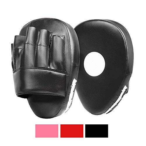 Gebogene Boxpratzen von Lions, Haken- und Stoß-Handschuhe, Boxsack, Handschuhe zum Box-, MMA- und Tret-Training, BX-1001, Schwarz