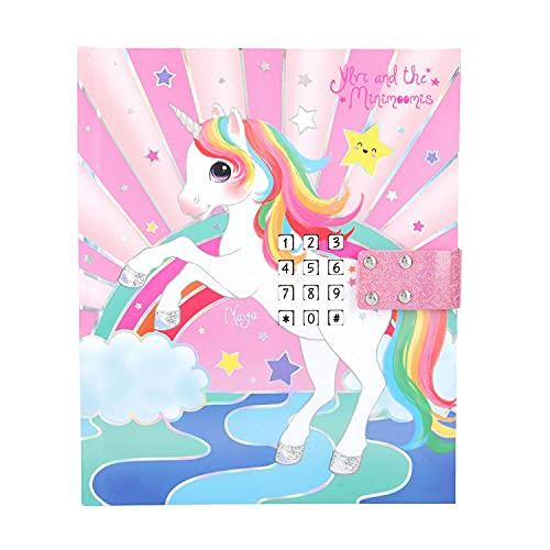 Depesche 11495 Ylvi - Tagebuch mit LED, Code und Sound, 192 linierte, illustrierte Seiten, zum Notieren von Ideen, Gedanken und Gefühlen ca. 18 x 15 x 4 cm groß