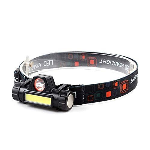 ZSM Faro LED Sensor Faro Linterna Lluvia Recargable Portátil Portátil Pesca Impermeable/Camping/Caza Linterna Luces de antorcha YMIK