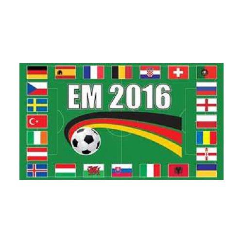 EM 2016 Alle 24 landen vlag (EM1)