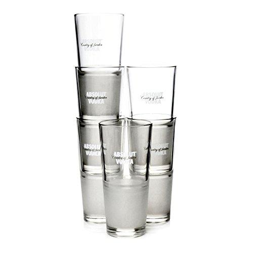 Absolut Vodka Longdrink Tumbler Glaeser Frozen (6 Stück)