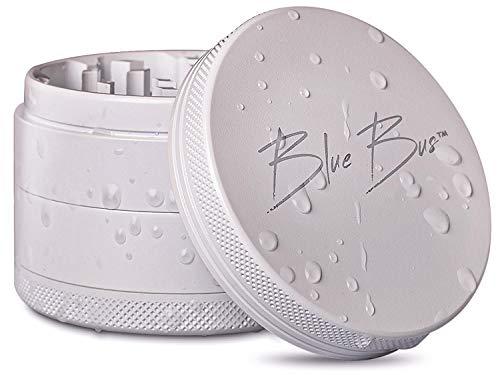 "#1 Best NON-STICK Ceramic Herb Grinder, Large 2.5"" inch with QUICK-LOCKING Mechanism, PREMIUM Design by BLUE BUS"