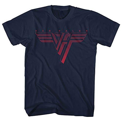 Van Halen Classic Red Logo Männer T-Shirt Navy XL 100{34d03dd9fbb1354ccfb1824ea2c34851b7b5cc965073a1838ea012d88f2a249d} Baumwolle Band-Merch, Bands